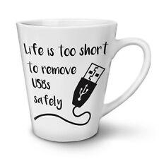 Life Too Short USB NEW White Tea Coffee Latte Mug 12 17 oz | Wellcoda
