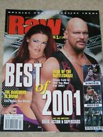 WWE MAGAZINE RAW FEBRUARY 2002 WRESTLING LITA STONE COLD STEVE AUSTIN COVER WWF