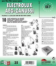 10PZ Bolsas AEG Zanussi Compatible con Todos los Modelos Indicado en Foto