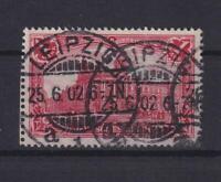 DR 78 Aa Germania 1 Mark gute Farbe dunkelkarminrot gestempelt geprüft (kt297)