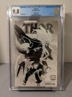 Thor #1 Nic Klein Sketch Cover Party B&W Variant CGC 9.8 2020 WP