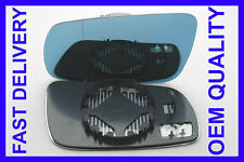 SKODA SUPERB ELEGANCE 2001-2006 WING MIRROR GLASS LEFT BLUE HEATED BLIND SPOT
