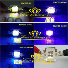 10W Alta potencia LED Luz UV Chip 365nm 385nm 395nm 405nm 12v 1050mA Ultra Violeta