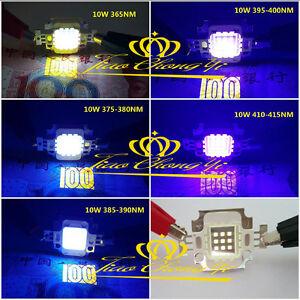 10W High Power LED UV Light Chip 365nm 385nm 395nm 405nm Ultra Violet 12v 1050mA