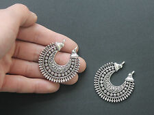 5pcs Silver Chandelier Earring Charms Pendant Connector Jewelry Findings 41mm