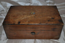 ANTIQUE VINTAGE WOOD HAND MADE MOTHER OF PEARL SEWING/ STATIONARY/JEWELLERY BOX