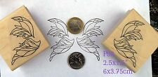P93  Butterfly wings (2 stamps)  rubber stamps wm