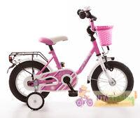 Kinderfahrrad 16 Zoll MY BONNIE pink Seitenständer Korb vorn 432-MB-89