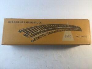 Vintage MARKLIN 5200 Curved Track Section x10 Pieces, W/ Original Orange Box NR!