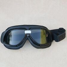 Gafas/Google/Brille BANDIT negras simil cuero con cristales ahumados