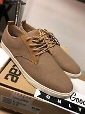 Clae Shoes -Ellington Style Lace up Sneakers -Acorn Canvas -Men's Size 9.5 New