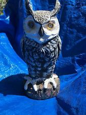 Vintage Halloween Hooting Owl w/Light Up Eyes Motion Activated Prop Figure Works