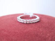 ANELLO MEZZO ETERNITY riviera diamanti ct 0.70 G/H vs oro bianco 18 kt mis 13