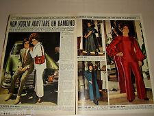 ORIETTA BERTI pittore clipping ritaglio articolo foto photo 1970