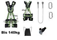 Premium Sitzgurt 140kg ATLAS Auffanggurt Fallschutz Klettergurt + 2m Seil