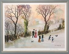 HELEN BRADLEY Signed Limited Edition Print GOING HOME THROUGH THE SNOW 543/850