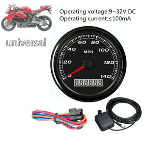 85MM 3-2/5''140MPH GPS Speedometer Display Gauge Car Motorcycle Backlight+Cable