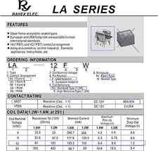10x Rayex LA-12F Relay 12v 30A 40A 1C 1PDT SPDT Mini Micro Open Frame Caseless