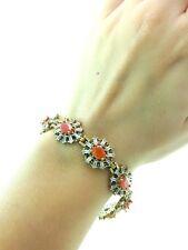 Turkish Handmade Victorian Style Jewelry Silver Woman Bracelets Swarovski Opal