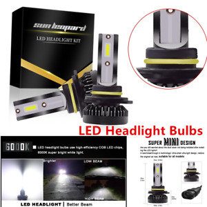 2x9012HIR2 Type LED Headlight Bulb High/Low Beam Kit COB REE Flip Chip Long Life