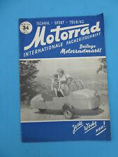 Fachzeitschrift MOTORRAD ROLLER MOPED 34 -1952 PUCH 150 TL PARILLA Felber Roller