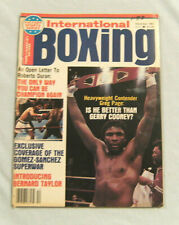 INTERNATIONAL BOXING MAGAZINE - DECEMBER 1981