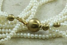 "Schoeffel 5 Row Strand Pearl Necklace 18K Yellow Gold Clasp 16 1/2"" Wholesale"