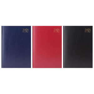 2021 A4 / A5 Diary Day A Page/Week To View Desk/Gilt Edge Hard Backed Dairy