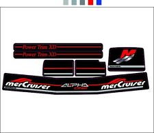 MERCRUISER THE NEW  COMPLETE SET ALPHA ONE GEN.2 DECALS W/RED RAM STICKER