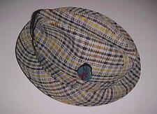 Biltmore Knokabout Canada Great Britain Men's Gadabout Plaid Fedora Hat 7 1/4
