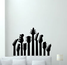 Guitar Wall Decal Music Studio Vinyl Sticker Rock Metal Art Decor Mural 54sss