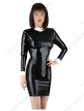 5291 Latex Rubber Gummi shirt Dress One-piece Skirt fitted customized 0.4mm sexy