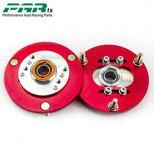 Front Coilover Top Mount Camber Plate fit BMW 3 Series E36 318 328 323 325 Red