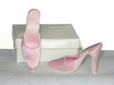 "Doll Shoes / Slipper / Slide DARK PINK SATIN fits CANDI 16"" ELLOWYNE perfect NEW"
