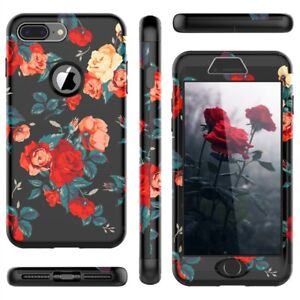 Bumper Case for iPhone X 7 6 6s 8 Plus 5 SE Hard Cover PC Silicone 360 Case