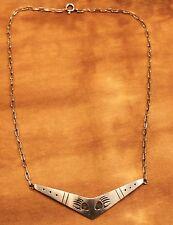 Hopi Kette/ Collier mit 2 Bärentatzen, 925 Silber