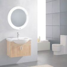 Battery Operated Round LED Illuminated Bathroom Mirror Light Smart Touch Control