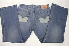 RARE Men's LEVI'S 527 Low Boot Cut Two-Tone Rear Pocket Med Wash Jeans 36x31!