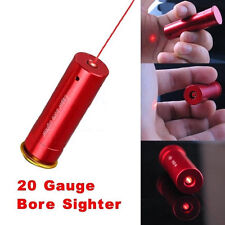 Red Laser Bore Sight 20 Gauge Barrel Cartridge Boresighter for 20GA Shotguns