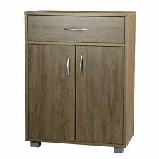 Oak Wooden Free Standing Cabinet Living Room Bedroom Shelves Drawer Storage
