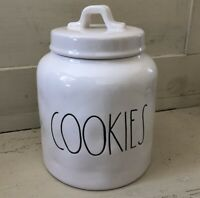 "Rae Dunn 2017 Canister ""COOKIES"" New Lots Of Dimples!! VHTF!!! 🍪🍪🍪"