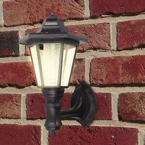 Wall-Mounted Lamp Outdoor Garden Light with Dusk to Dawn Sensor Black
