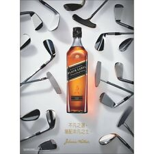 JOHNNIE WALKER BLACK   GOLF  CHINESE VERSION   18 BY 27 POSTER