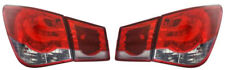For Chevrolet Cruze 2009+ red clear LED back rear tail lights