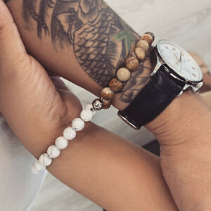 Couple Natural Lava Stone Magnetic Mutual Attraction Friendship Beaded Bracelet
