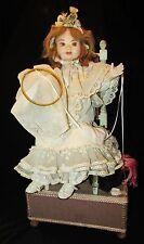 BELLE POUPEE AUTOMATE MUSICALE ANCIENNE Tête en cire 20 ème Rare automata doll