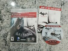 BATMAN ARKHAM CITY Playstation 3 PS3 console GAME of the YEAR Edition COMPLETE