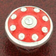Authentic Kameleon KJP731 Raspberry Martini Red Enamel Jewelpop Sterling Silver