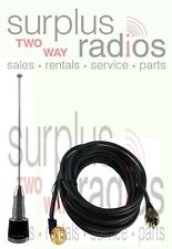 Antenna VHF NMO 1/2 2.4db No Ground Race Car Radio PL259 Kenwood TK790 TK7180
