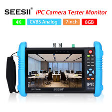 "7"" 4K 1080P IPC Camera CCTV Tester Monitor CVBS Analog PoE Test Touch Screen LED"